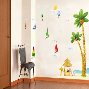 Sticker decorativ copii - Barcute langa insula3