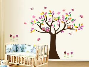 Sticker decorativ copii - Copacelul roz0