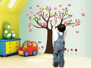 Sticker decorativ copii - Copacelul roz1