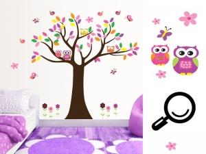 Sticker decorativ copii - Copacelul roz4