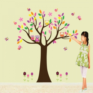 Sticker decorativ copii - Copacelul roz2