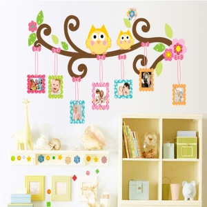 Sticker decorativ copii - Creanga cu rame foto0