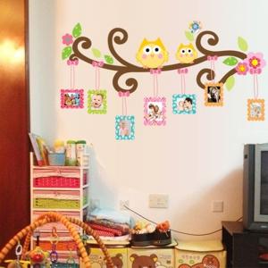 Sticker decorativ copii - Creanga cu rame foto1