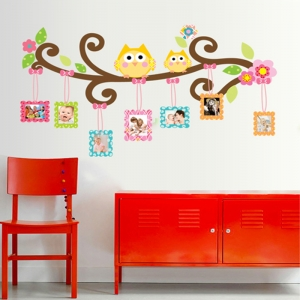 Sticker decorativ copii - Creanga cu rame foto4