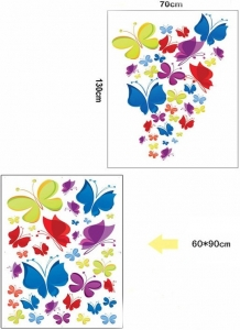 Sticker decorativ copii - Curcubeu de fluturasi5
