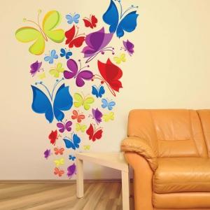 Sticker decorativ copii - Curcubeu de fluturasi3