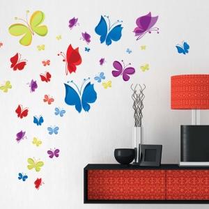 Sticker decorativ copii - Curcubeu de fluturasi0