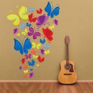Sticker decorativ copii - Curcubeu de fluturasi1