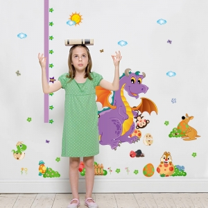 Sticker decorativ copii - Grafic de crestere dragonul prietenos - masurator inaltime3