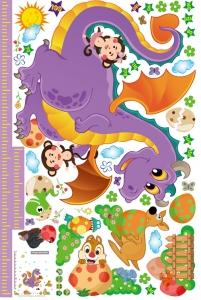Sticker decorativ copii - Grafic de crestere dragonul prietenos - masurator inaltime5