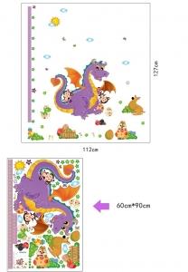 Sticker decorativ copii - Grafic de crestere dragonul prietenos - masurator inaltime6