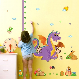 Sticker decorativ copii - Grafic de crestere dragonul prietenos - masurator inaltime4