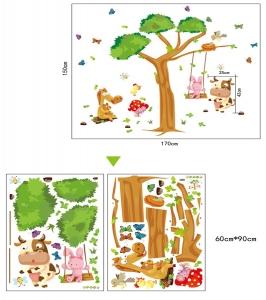 Sticker decorativ copii - Joaca in padure5
