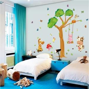 Sticker decorativ copii - Joaca in padure4