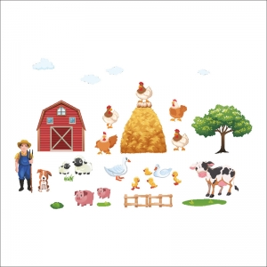 Sticker pentru copii - Animale la ferma5