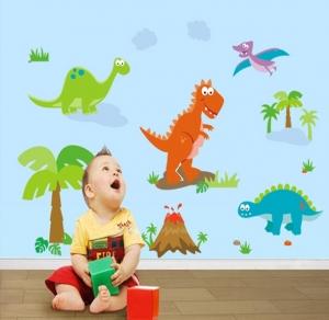 Sticker decorativ copii - Lumea dinozaurilor3