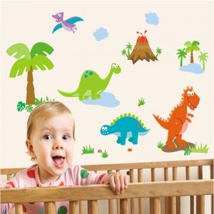 Sticker decorativ copii - Lumea dinozaurilor2