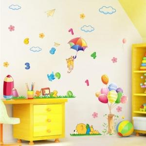 Sticker decorativ copii - Sa ne jucam cu numerele1