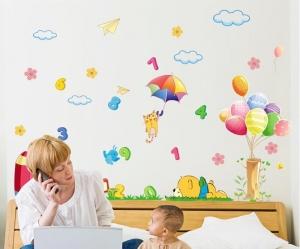 Sticker decorativ copii - Sa ne jucam cu numerele5