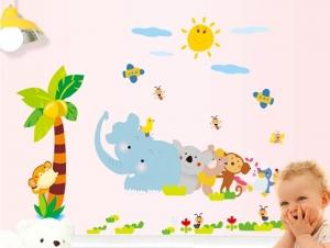 Sticker decorativ copii - Trenuletul animalelor [4]