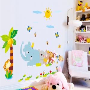 Sticker decorativ copii - Trenuletul animalelor [2]