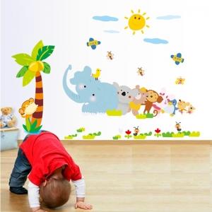 Sticker decorativ copii - Trenuletul animalelor [1]
