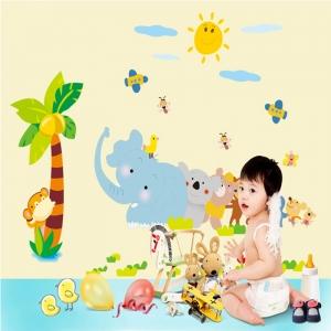Sticker decorativ copii - Trenuletul animalelor [0]