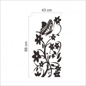 Sticker decorativ frigider - Flori si fluturi6