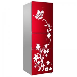 Sticker decorativ frigider - Flori si fluturi1