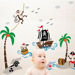Sticker decorativ pentru baieti - Piratii naufragiati1