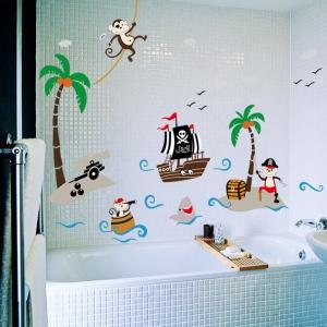 Sticker decorativ pentru baieti - Piratii naufragiati4