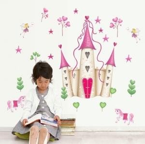 Sticker decorativ pentru fete- Castelul din poveste2