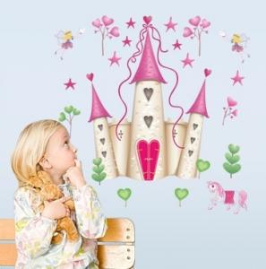Sticker decorativ pentru fete- Castelul din poveste1
