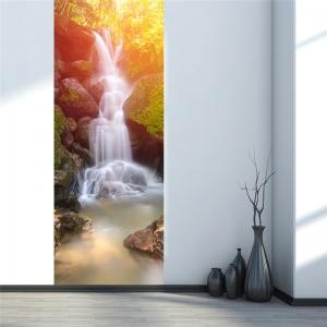Sticker decorativ pentru usi - Cascada - 2 folii de 38,5x200 cm2