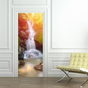 Sticker decorativ pentru usi - Cascada - 2 folii de 38,5x200 cm0