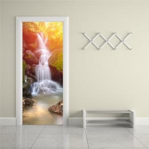 Sticker decorativ pentru usi - Cascada - 2 folii de 38,5x200 cm3