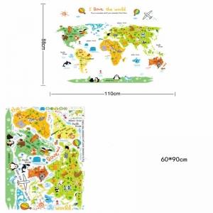 Sticker educativ - Harta animata a lumii pentru copii3