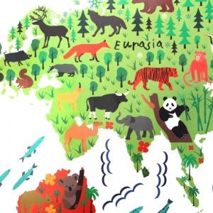 Sticker educativ pentru copii - Harta lumii pentru copii3