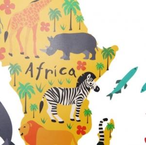 Sticker educativ pentru copii - Harta lumii pentru copii4