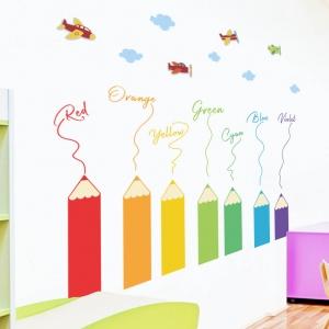 Sticker educativ pentru copii - Invatam culorile - 110x120 cm6