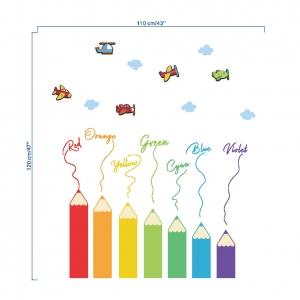 Sticker educativ pentru copii - Invatam culorile - 110x120 cm3