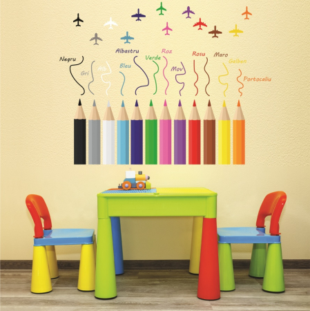 Sticker educativ pentru copii - Invatam culorile0