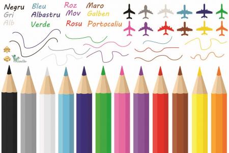 Sticker educativ pentru copii - Invatam culorile2