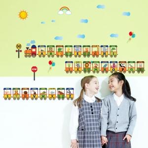 Sticker educativ - Vagoane cu literele alfabetului5