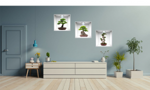 Sticker Bonsai 3D - Nise Perete - 120x40 cm1