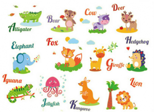 Sticker fosforescent - Animale in limba engleza7