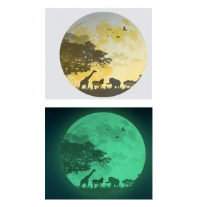 Sticker fosforescent - Luna - Safari - 30x30 cm2