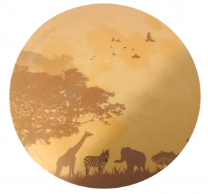 Sticker fosforescent - Luna - Safari - 30x30 cm1