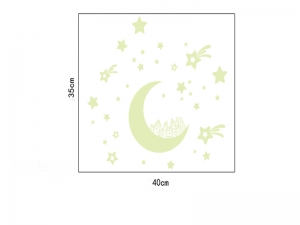 Sticker fosforescent - Luna si stele3
