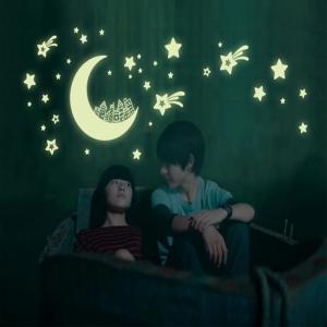 Sticker fosforescent - Luna si stele0